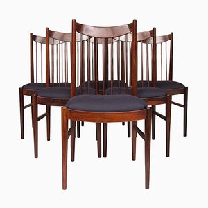 Mid-Century Rosewood Dining Chairs by Arne Vodder for Sibast, 1960s, Set of 6
