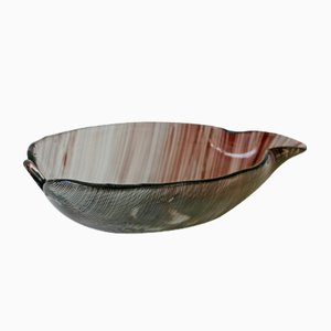 Foglia Filigrana Bowl by Tyra Lundgren & Carlo Scarpa for Venini, 1937