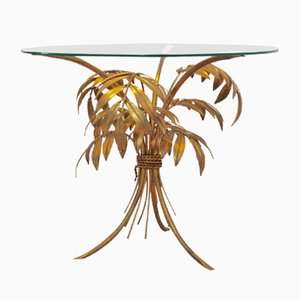 Hollywood Regency Gilt Palm Tree Coffee Table from Hans Kögl, 1970s