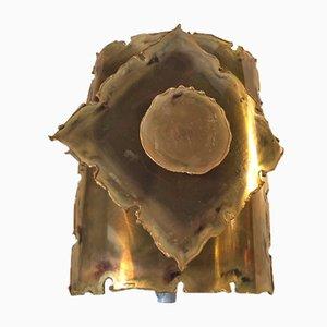 Danish Brutalist Brass Sconce by Svend Aage Holm-Sørensen, 1960s
