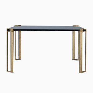 Table Basse en Bronze et Verre par Peter Ghyczy, 1970s