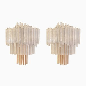 Italian Sconces from Venini, 1960s, Set of 2
