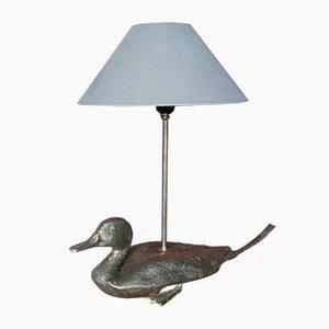 Lámpara con pato de metal, años 60