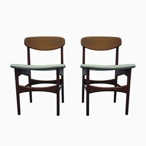 Chaises en Teck par Arne Hovmand Olsen pour Jutex, 1950s, Set de 2