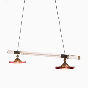 Lámpara colgante de lucite y plexiglás de Harco Loor, años 80