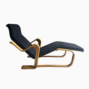Long chair vintage nera di Marcel Breuer