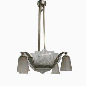 Lámpara de araña Art Déco de Muller Frere Luneville, años 20