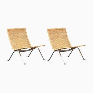 Vintage PK-22 Stühle von Poul Kjærholm, 2er Set