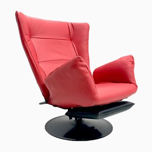 Reclining Leather Armchair, 1970s