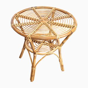 Bamboo & Rattan Coffee Table, 1960s