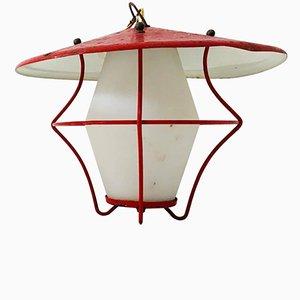 Lanterna in vetro opalino di Stilnovo, Italia, anni '50