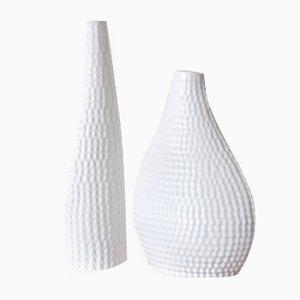 Jarrones Reptil vintage de cerámica de Stig Lindberg para Gustavsberg. Juego de 2