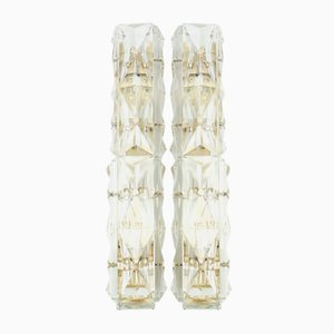 Tubular Crystal Glass Wall Lamps from Kinkeldey, 1960s, Set of 2