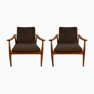 Danish Model 138 Easy Chairs by Finn Juhl for France & Daverkosen, 1950s, Set of 2
