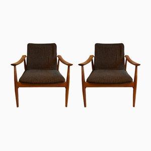 Fauteuils Modèle 138 Easy Chairs par Finn Juhl pour France & Daverkosen, Danemark, 1950s, Set de 2