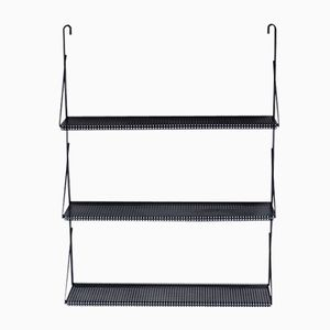 Vintage Black Perforated Metal Wall Unit by Tjerk Reijenga for Pilastro