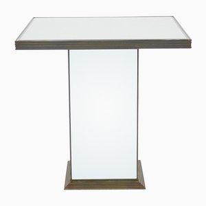 Mesa auxiliar o extensión de mesa francesa de espejo, años 70