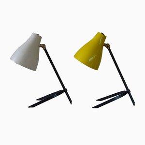 Lámparas de mesa Mid-Century, años 50. Juego de 2