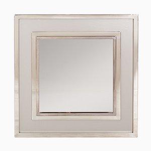 Specchio grande cromato di Maison Jansen, anni '80