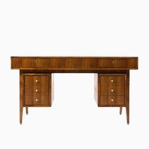 Walnuss Schreibtisch, 1950er