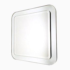 Italian Square Beveled Wall Mirror, 1970s