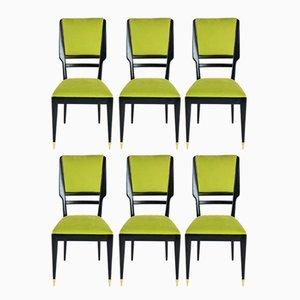 Italienische Esszimmerstühle, 1950er, 6er Set