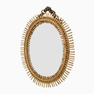 Italian Oval Wall Mirror, 1950s