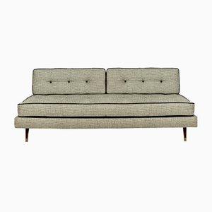 Großes Mahagoni Sofa, 1950er