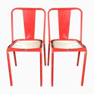 Chaises T4 par Jean Pauchard de Tolix, 1950s, Set de 2