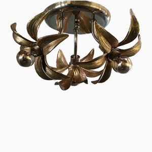 Lampada da soffitto in ottone di Massive Luminaires, anni '70
