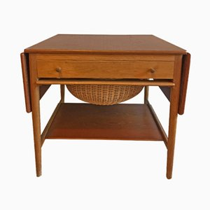 AT-33 Sewing Table by Hans J. Wegner for Andreas Tuck, 1950s