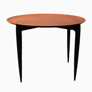 Tavolino basso con ripiano rimovibile di H. Engholm & Svend Åge Willumsen per Fritz Hansen, anni '70