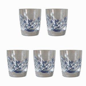 Vintage Whiskey Gläser von Lalique, 5er Set
