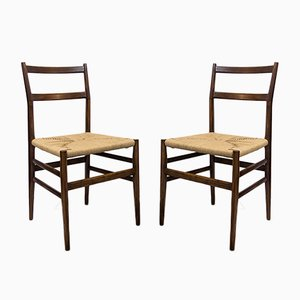 Model 646 Leggera Chairs by Gio Ponti for Cassina, 1952, Set of 2