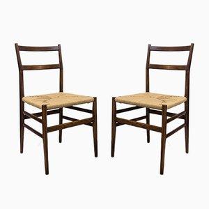 Modell 646 Leggera Stühle von Gio Ponti für Cassina, 1952, 2er Set
