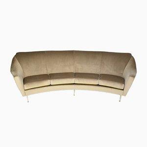 Mid-Century Italian Curved Sofa