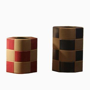 Vintage Keramik Vasen von Jan van der Vaart für Rosenthal, 2er Set