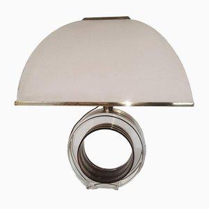 Vintage Messing & Lucite Tischlampe von Smart Roma