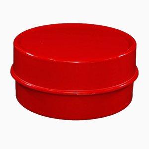 Mesa de centro Ilumesa vintage roja de Verner Panton para Verpan