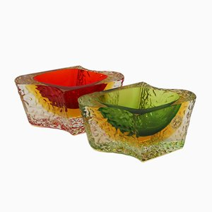 Vintage Murano Glass Bowls by Luigi Mandruzzato, Set of 2