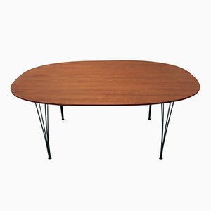 Mid-Century Ellipse Dining Table by P. Hein and B. Mathsson for Fritz Hansen