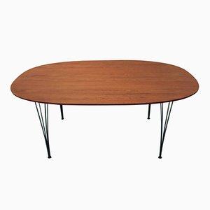 Table de Salle à Manger Mid-Century Ellipse par P. Hein et B. Mathsson pour Fritz Hansen