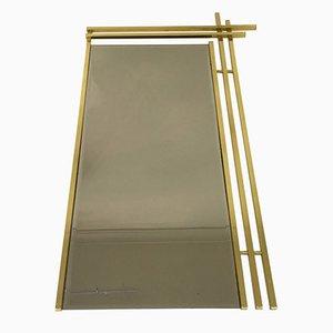 Espejo italiano con marco de latón, años 70