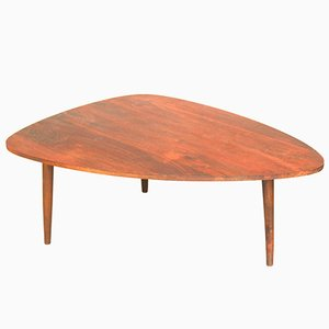 Vintage Tripod Coffee Table in Stained Wood
