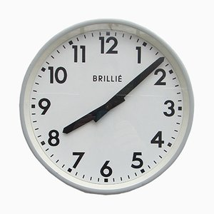 French Industrial Wall Clock from Brillié, 1950s