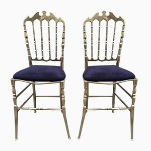 Chiavarine Brass Chairs, 1950s, Set of 2
