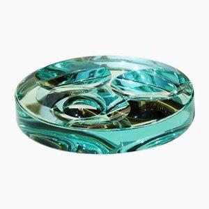 Cuenco vintage de cristal de espejo de Fontana Arte, años 60