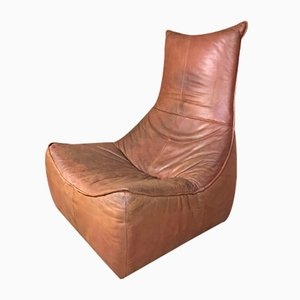 The Rock Chair in Cognac Leather by Gerard van de Berg for Montis, 1970s