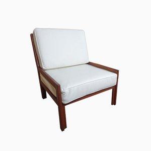 Teak Armchair in Leather, 1960s