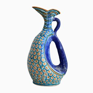 Italian Sculptural Ceramic Vase from C.A.S., 1950s